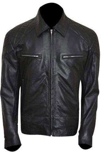 Terminator 5 Arnold Schwarzenegger Leather Jacket Black 02