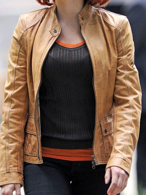 The Avengers Scarlett Johansson Leather Jacket 01