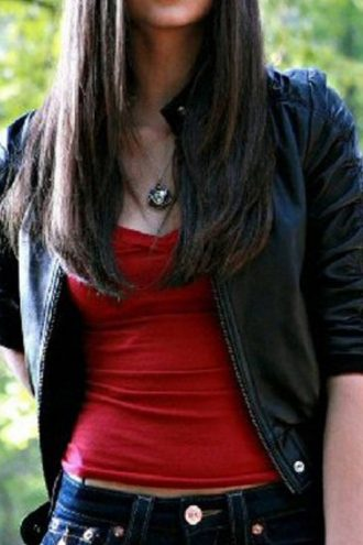 The Vampire Diaries Elena Gilbert Leather Jacket Black 01