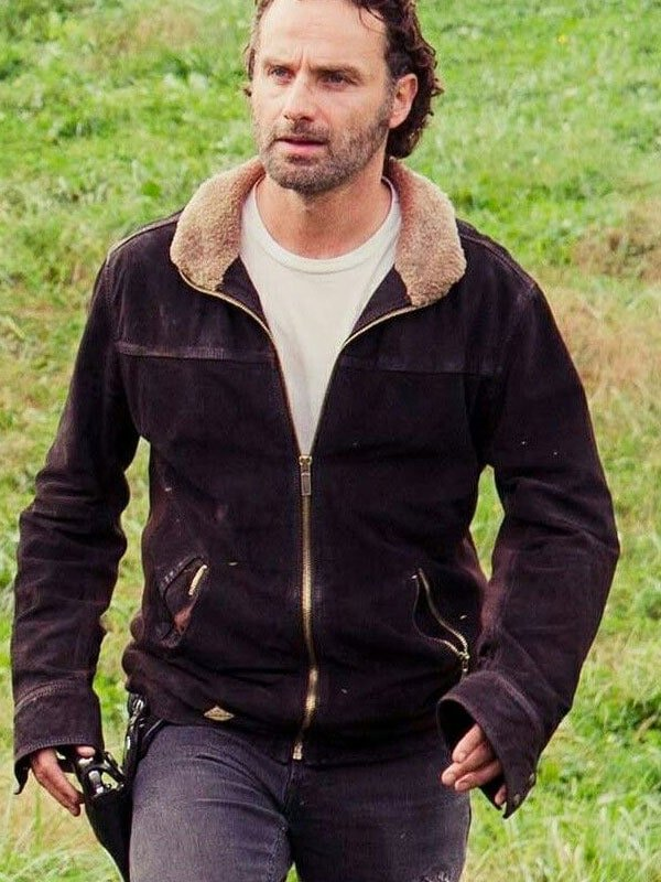 The Walking Dead Rick Grimes Andrew Lincoln Leather Jacket