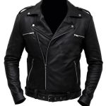 The Walking Dead TV Series Negan Leather Biker Jacket Black