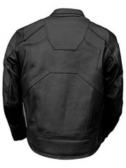 Tom Cruise Oblivion Leather Motorcycle Jacket Black Back