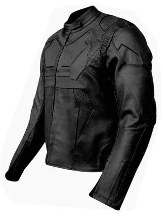 Tom Cruise Oblivion Leather Motorcycle Jacket Black Side