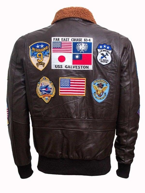 Tom Cruise Top Gun Leather Jacket Black