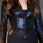 Wanted Movie Angelina Jolie Leather Jacket Black 01