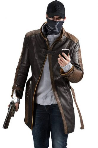 Watch Dogs Aiden Pearce Leather Coat 1