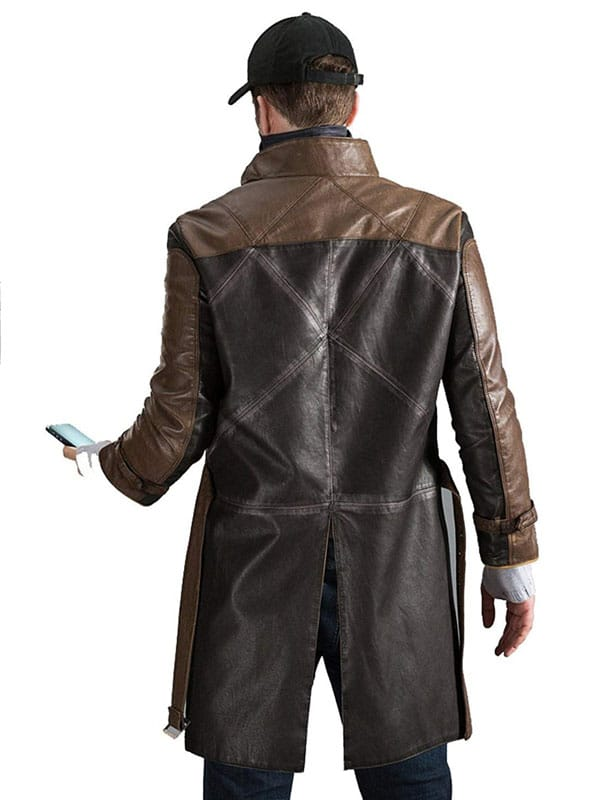 Watch Dogs Aiden Pearce Leather Coat 3