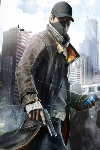 Watch Dogs Aiden Pearce Leather Coat