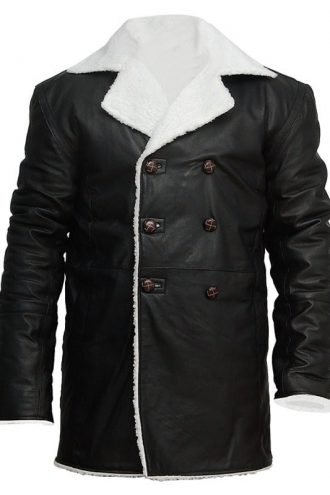 mens-real-sheepskin-winter-shearling-fur-coat-black FRONT