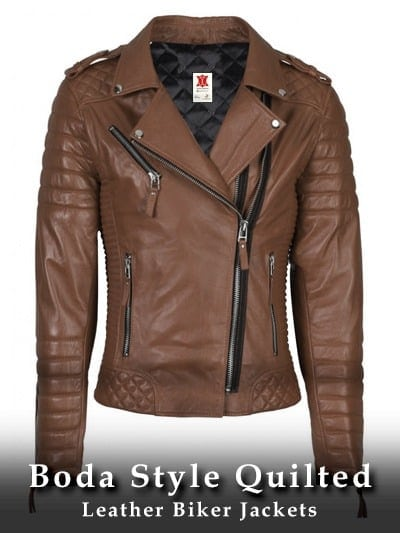 Boda Style Quilted Leather Biker Jackets