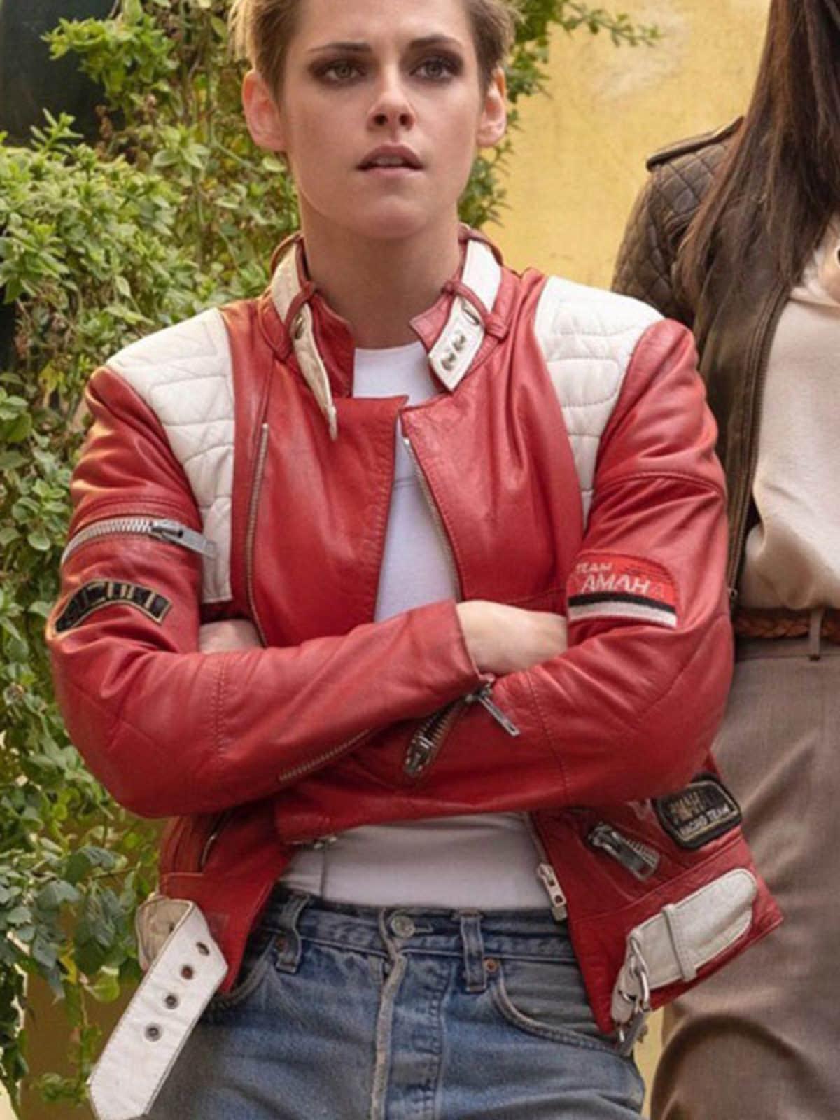 Charlie's Angles Kristen Stewart Leather Bomber Jacket