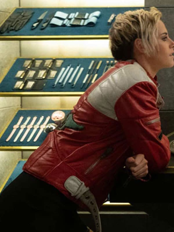 Charlies Angles Kristen Stewart Jacket Red and Black