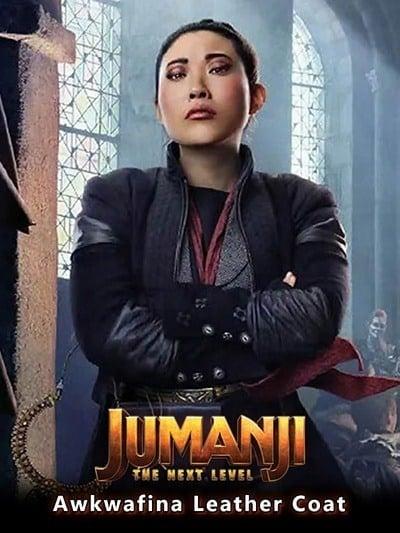 Jumanji The Next Level Awkwafina Leather Coat