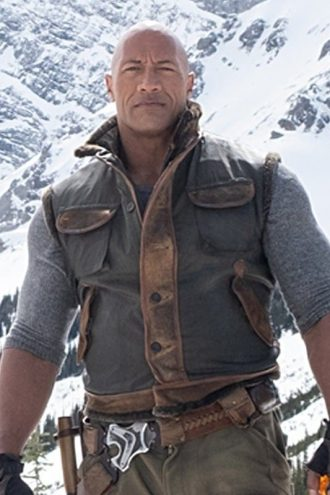 Jumanji The Next Level Classic Dwayne Johnson Leather Vest