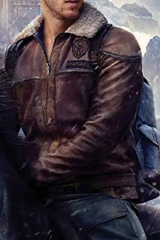 Jumanji The Next Level Nick Jonas Brown Leather Jacket