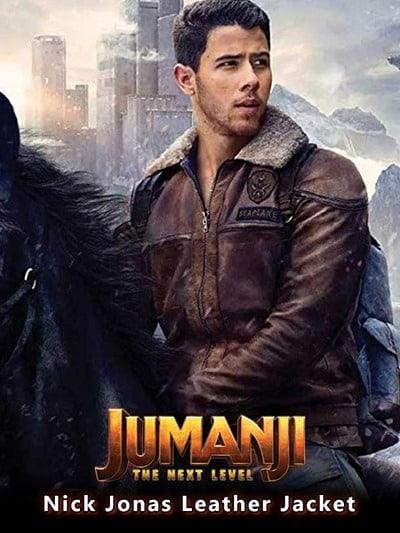 Jumanji The Next Level Nick Jonas Leather Jacket