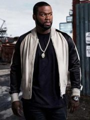 Kanan Power 50 Cent Black And White Bomber Jacket