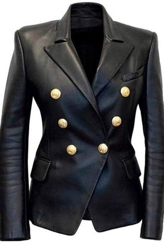 Kim Kardashian Double Breasted Paris Blazer Black 1