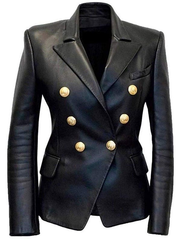 Kim Kardashian Double Breasted Paris Blazer Black 1