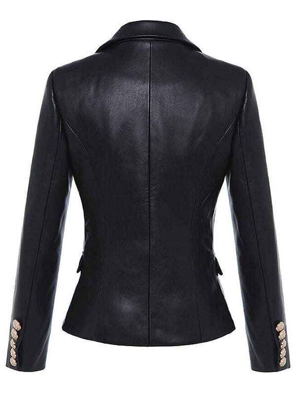 Kim Kardashian Double Breasted Paris Blazer Black 2