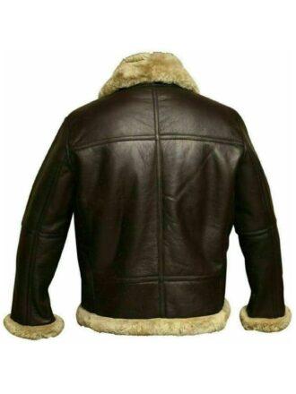 Mens Aviator RAF B3 Sheepskin Leather Shearling Jacket Black 1
