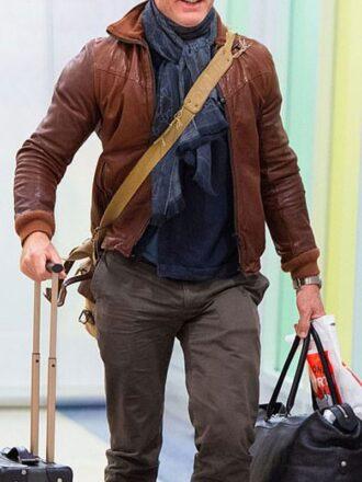 Daniel Craig Leather Bomber Jacket