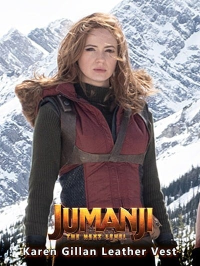 Ruby Roundhouse Jumanji The Next Level Karen Gillan Leather Vest