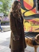 Tv Series In the Dark Perry Mattfeld Suede Leather Coat 3