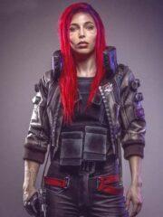 Video Game Cyberpunk 2077 Samurai Leather Bomber Jacket 1