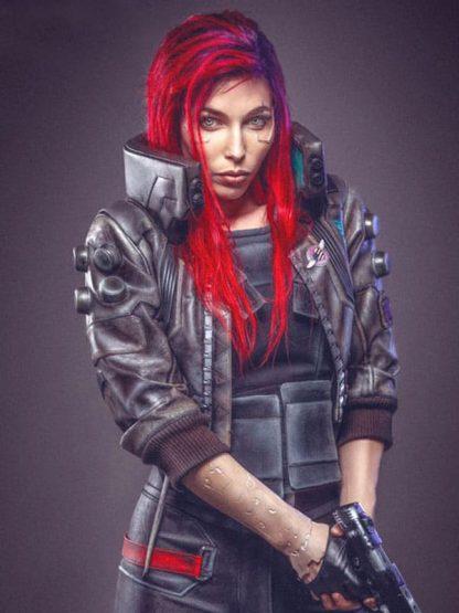 Video Game Cyberpunk 2077 Samurai Leather Bomber Jacket 2