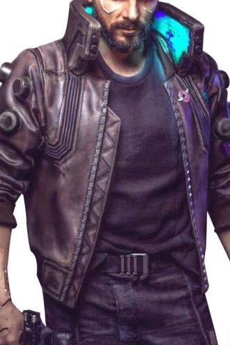 Video Game Cyberpunk 2077 Samurai Leather Bomber Jacket