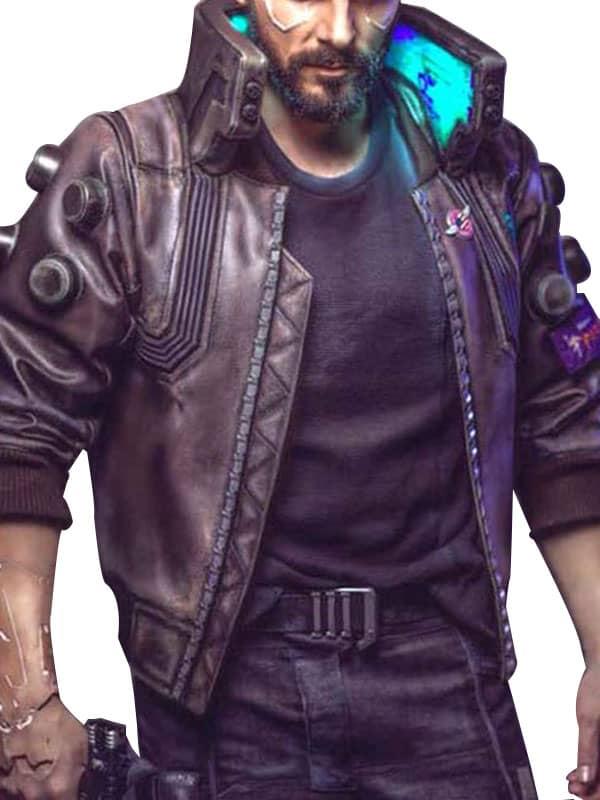 Video Game Cyberpunk 2077 Samurai Leather Bomber Jacket