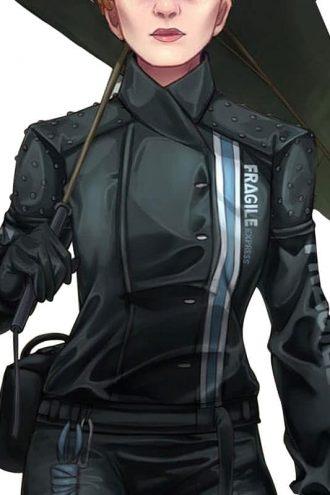 Women Death Stranding Fragile Express Jacket Black