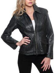 Womens Fashion Designer Leather Coat Black 02