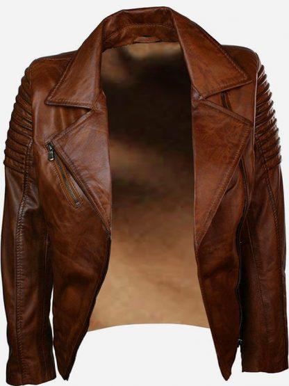 Womens-Fashion-Designer-Leather-Jacket-Brown-2