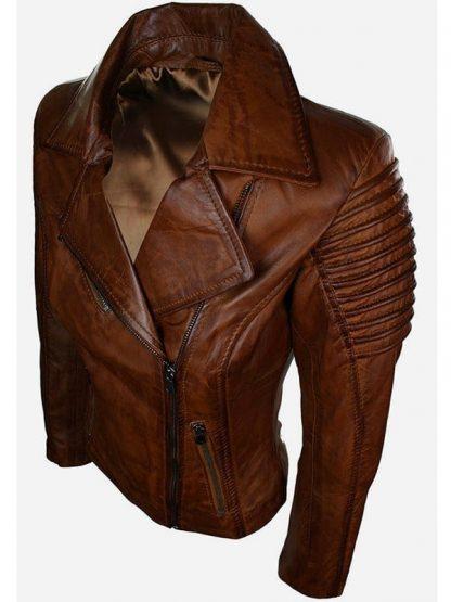 Womens-Fashion-Designer-Leather-Jacket-Brown-4