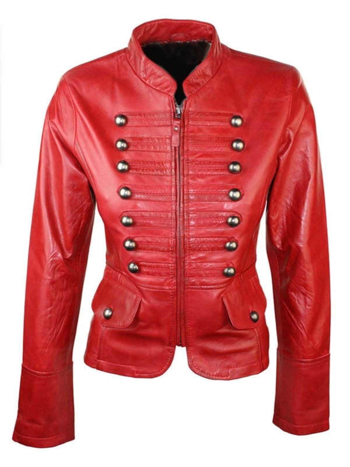 Military Style Real Leather Jacket