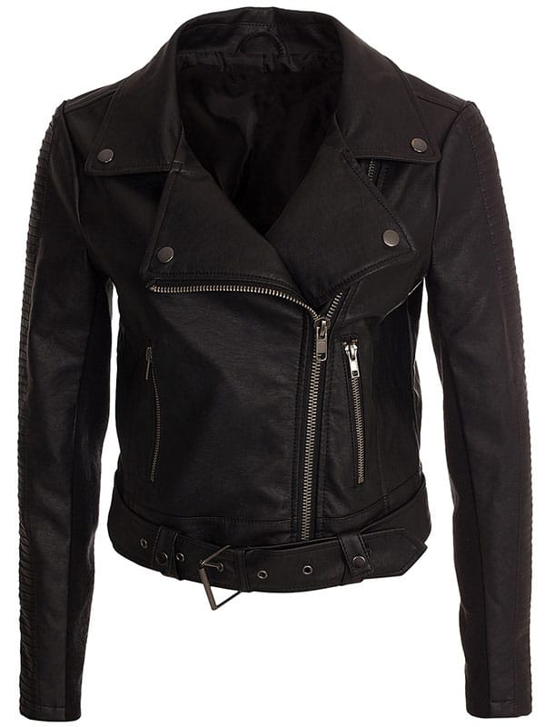 Short Body Leather Motorcycle Jacket