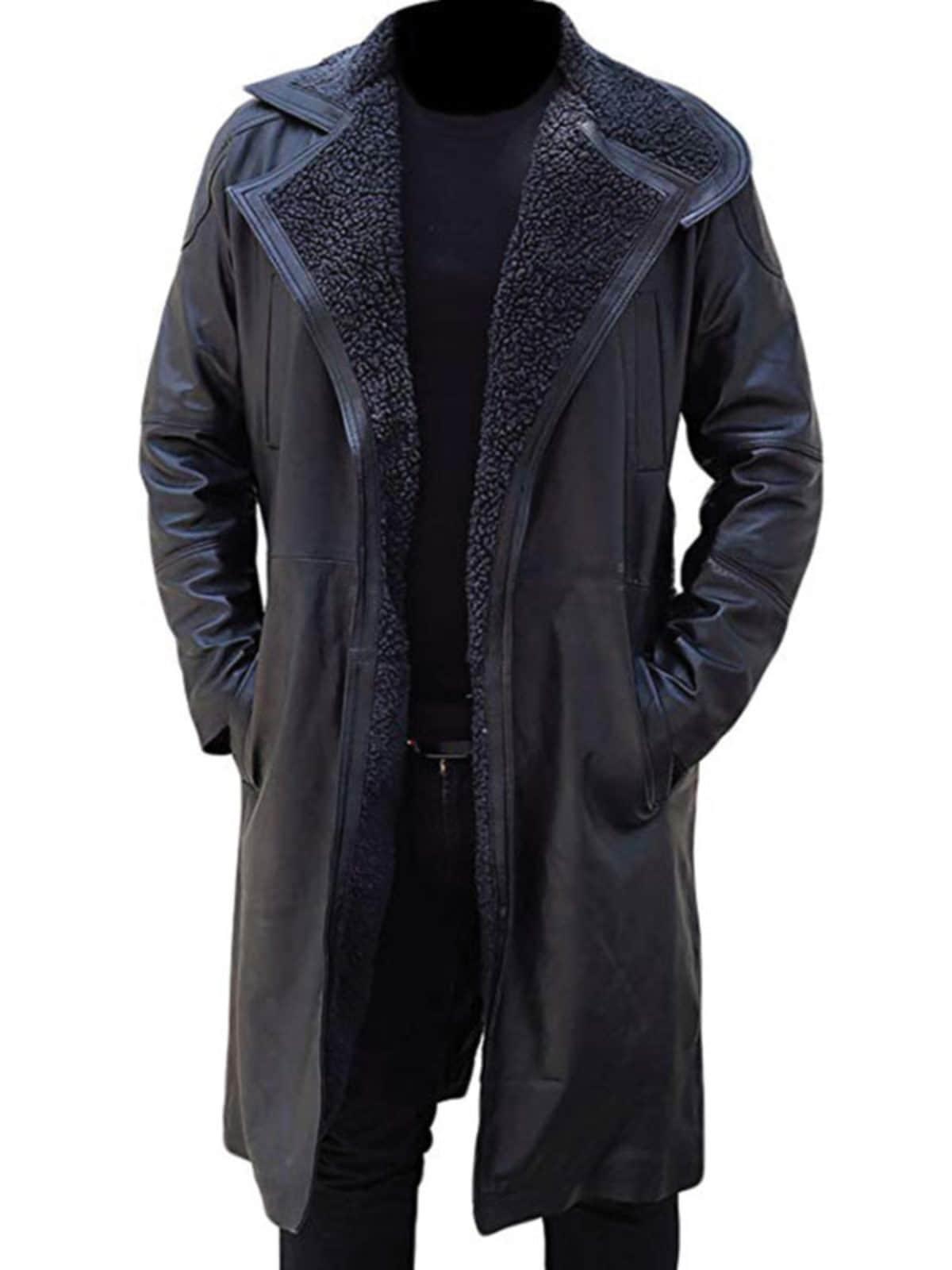 Blade Runner 2049 Ryan Gosling Officer Long Leather Coat