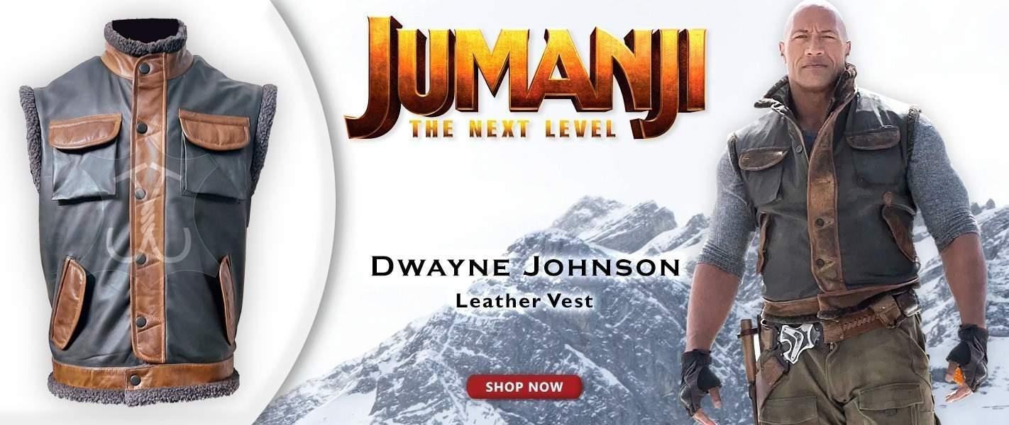 Jumanji 3 The Rock Leather Vest