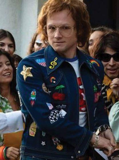 Elton John Rocketman Blue Denim Jacket