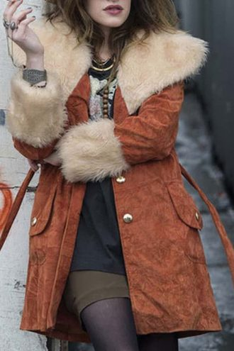 Mr. Robot Darlene Brown Shearling Coat