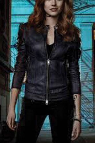 Shadowhunters Katherine McNamara Leather Jacket