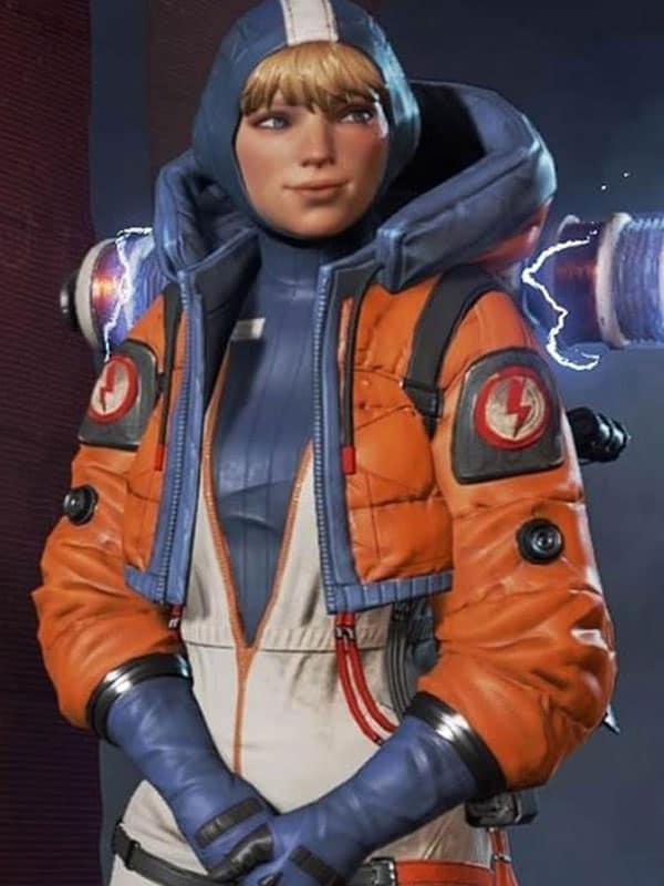 Apex Legends Orange Leather Jacket