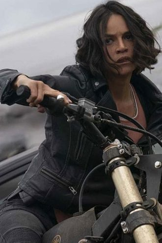 Michelle Rodriguez Black Jacket