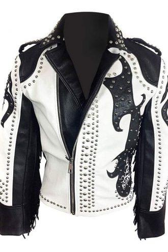 Tribal Rock Punck Black and White Jacket