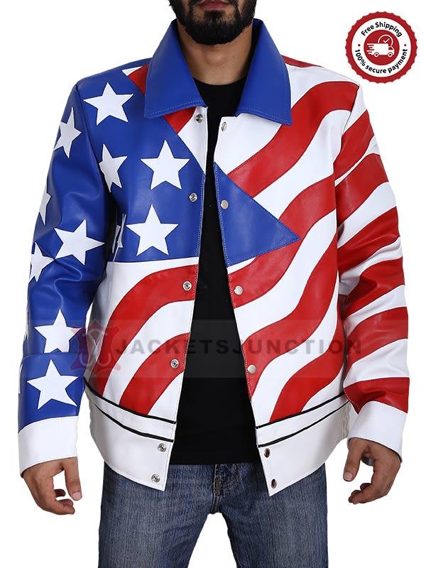 American Flag Vanilla Ice Leather Jacket