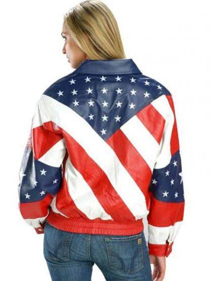Womens American Flag Jacket