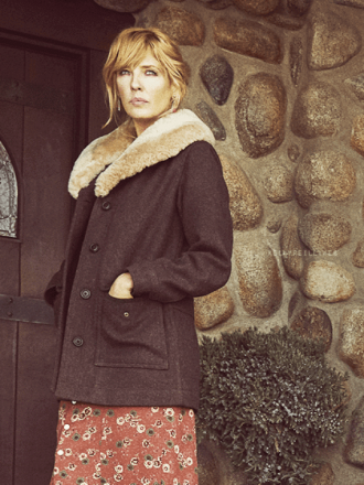 Yellowstone Beth Dutton Fur Coat