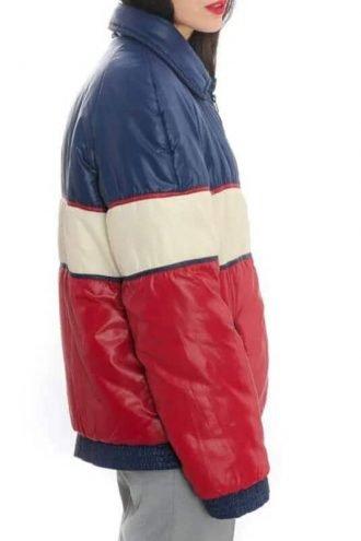 70s Vintage Unisex Tricolor Puffer Jacket